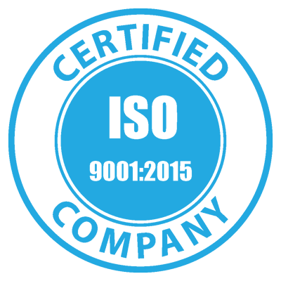 ISO Logo - Certified ISO 9001:2015 Company